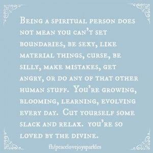 being a spiritual person does not mean
