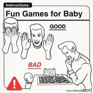 Instructions: fun games for baby, good vs bad