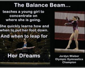 Gymnastics Poster Jordyn Wieber Gym nast Photo Quote Wall Art 8x11 ...