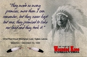 Chief Red Cloud Quotation Post Card Feather Sticker