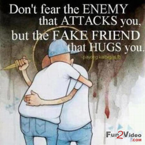 Quote and Saying To Know That Fake Friends are Dangerous than Enemy ...