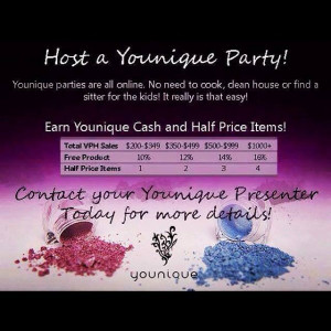 Younique on-line Party and earn FREE Younique Products. Younique ...