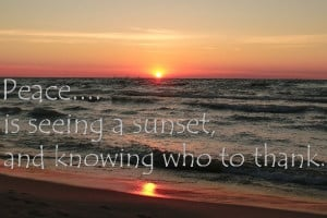 Lake Michigan Sunset & Quote by tattboy on Etsy, $10.00