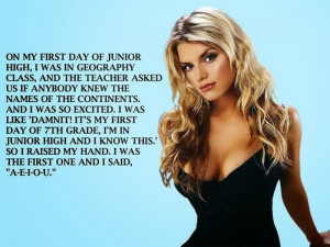 Jessica Simpson names of the continents quote meme funny Imgur