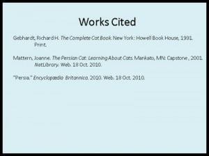 proper works cited format Page title - the words works cited should appear centered one inch from the top  of the page if you have only 1 citation the title should be work.