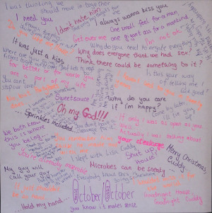 Huddy Huddy quotes in Hilly's handwriting :D