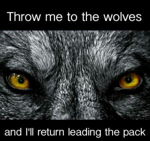 Throw me to the wolves and I'll return leading the pack: Dream Closet ...
