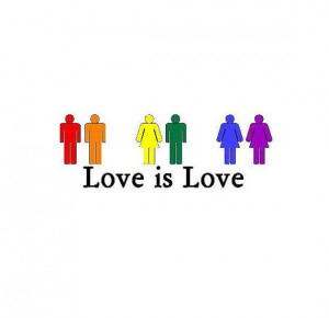 Love Is Love LGBT Gay Pride Rainbow Bumper by BumperStickerStore, $3 ...