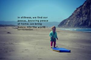 peaceful links to ponder this weekend...