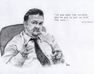 David Brent. Ricky Gervais/The Offi ce. Pencil drawing 12