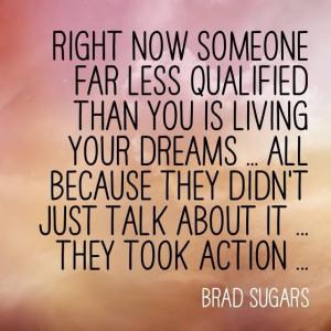 Stop talking take action