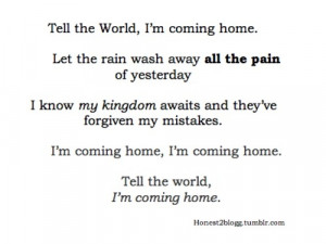 Coming Home Quotes
