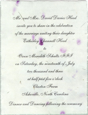 handmade invitation paper wedding
