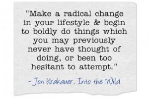 Make a Radical Change