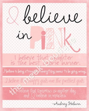 audrey hepburn quotes, i believe in pink