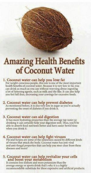 Amazing benefits of coconut water!