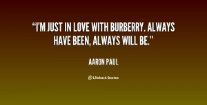 just in love with Burberry. Always have been, always will be ...