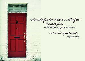 RED DOOR quote Print by JAMART Photography