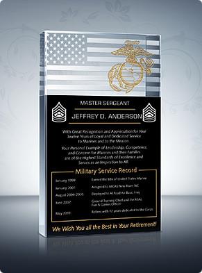 ... Plaques > Marine Corps Plaques > Marine Corps Retirement Plaque