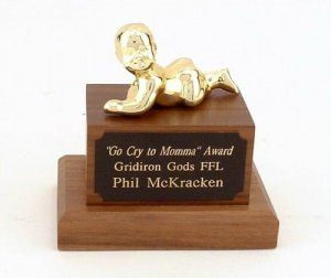 Funny Fantasy Football Loser Trophies :: Crybaby Whiner Trophy Funny ...