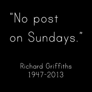 RIP Richard Griffiths #UncleVernon #UncleMonty