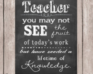 Teacher Appreciation gift, Teacher quote, Teacher printable, Teacher ...