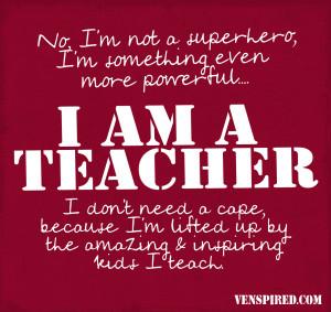 Superhero Teacher Logo notasuperhero