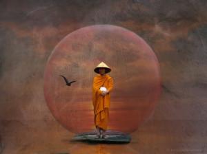 Zen Wallpaper The Waiting Monk