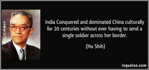 India Conquered and dominated China culturally for 20 centuries ...