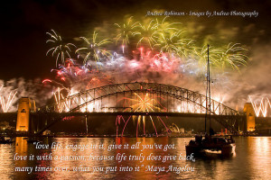 Engage - Fireworks on the Sydney Harbour Bridge with Quote by Andrea ...