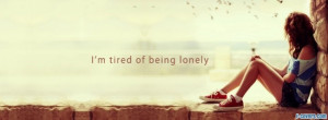 lonely girl quote facebook cover for timeline