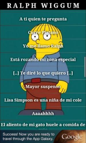 Ralph Wiggum Spanish