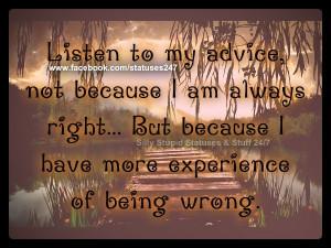 Listen to me...