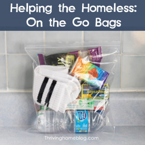 ... goodie bags for the homeless. You can be sure the bag includes socks