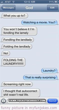 Autocorrect fail Landlady — funny jokes and quotes and sayings in ...