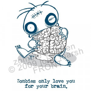 Cute Zombie Love Cute, love and zombie