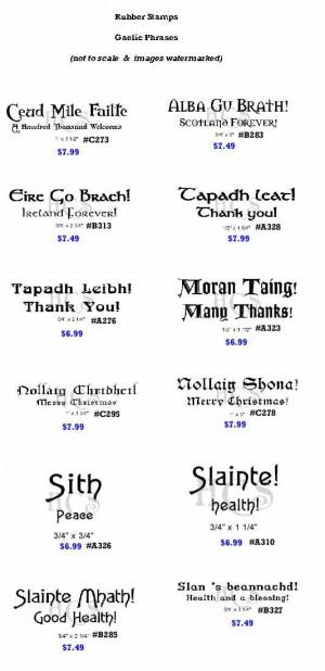 gaelic blessing gaelic sayings carved gaelic sayings