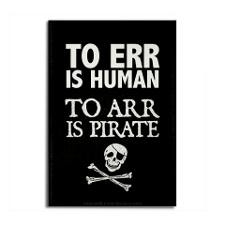 To arr is pirate Magnet for
