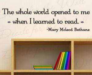 Bethune Reading - Boy Girl Themed Kids Room Playroom - Vinyl Quote Art ...