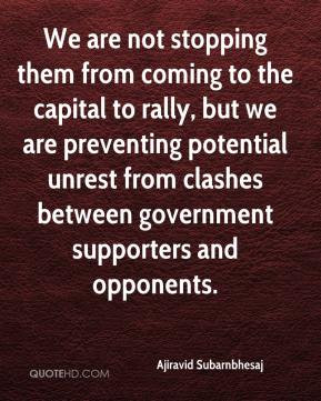 ... unrest from clashes between government supporters and opponents