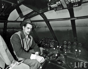 Howard Hughes inside of the H-4 Hercules , more widely known as the ...