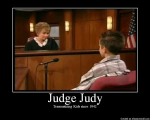 Conflict and Judge Judy