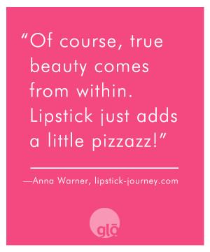 Anna Warner's Lipstick Journey