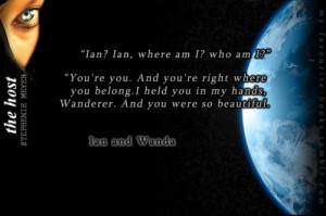 ... .Ian and Wanda - The Host, Stephenie Meyer(via my-favourite-books