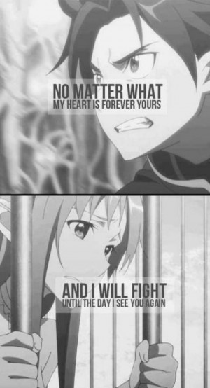 Quote Kirito Yuuki Asuna Sword Art Online