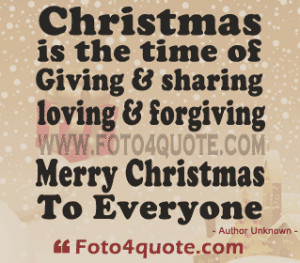 Christmas cards – It's time for giving, forgiving and loving