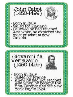 John Cabot/Giovanni da Verrazano Cabot discovered parts or north ...