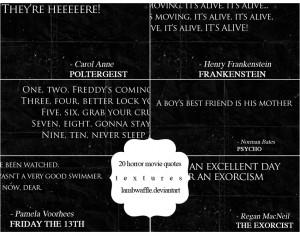 Horror Movie Quotes Tumblr 20 horror movie quotes