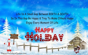 Happy Holidays To Friends Quotes