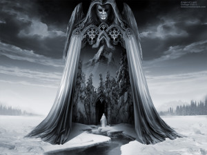 Angels and Demons or Angel of Light, Dark angel mystical forest ...